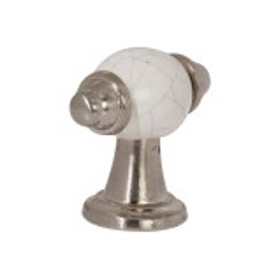 54mm Esme Pewter And White Crackled Handle