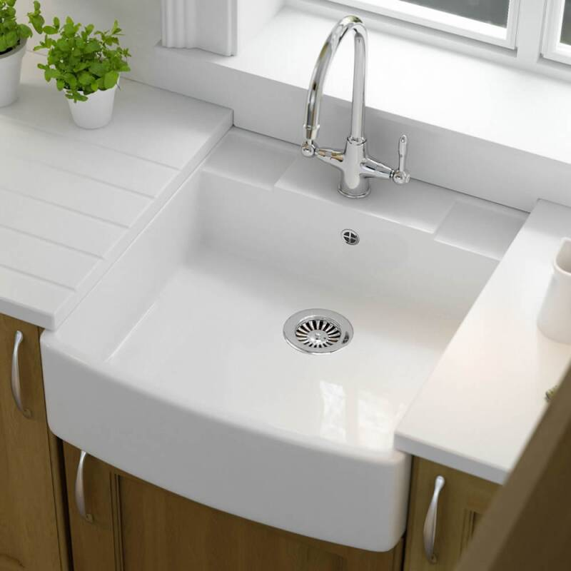 595x665 Easedale Ceramic Bow Fronted Belfast Sink additional image 1