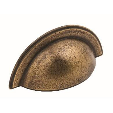 64mm x 102mm Jessica Aged Brass Cup Handle