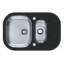 760x500 Rydal 1.5 Bowl RVS Round Black Glass