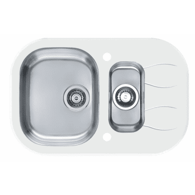 760x500 Rydal 1.5 Bowl RVS Round White Glass