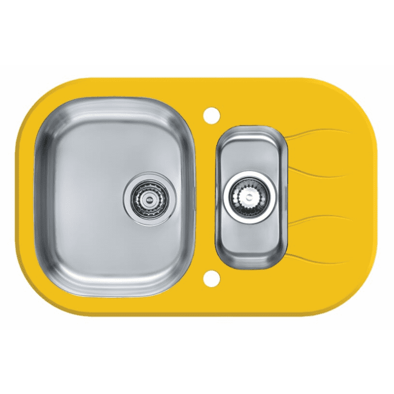 760x500 Rydal 1.5 Bowl RVS Round Yellow Glass primary image