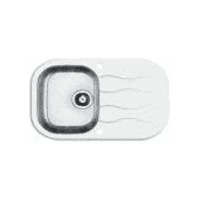 760x500 Rydal 1 Bowl RVS Round White Glass