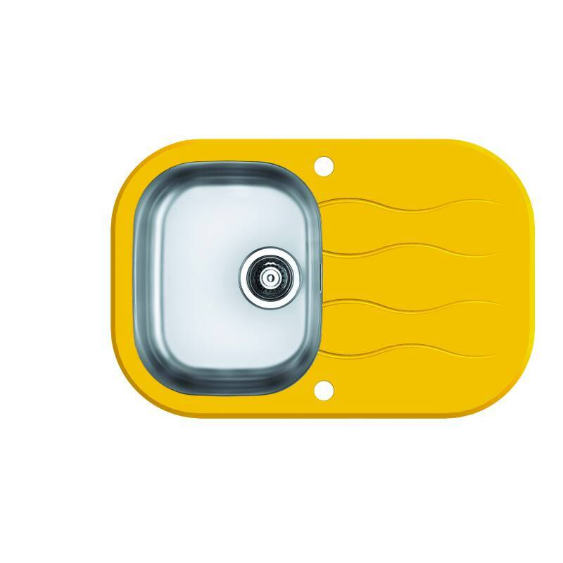 760x500 Rydal 1 Bowl RVS Round Yellow Glass primary image
