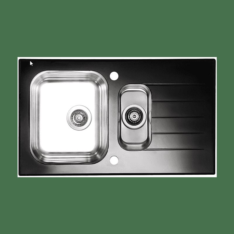 860x500 Alveus 1.5 Bowl RVS Black Glass additional image 2