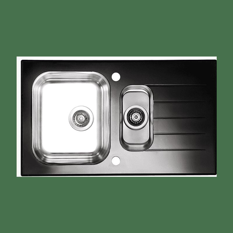 860x500 Alveus 1.5 Bowl RVS Black Glass primary image