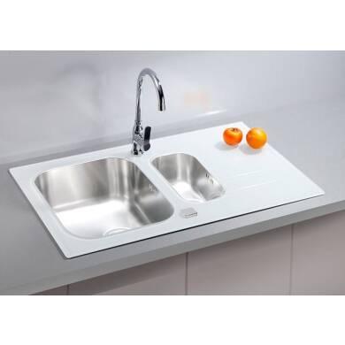 860x500 Alveus 1.5 Bowl RVS White Glass