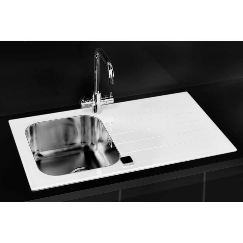 860x500 Alveus 1 Bowl RVS White Glass additional image 1