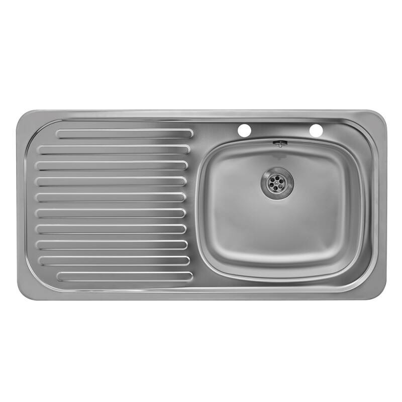 935x485 Tudor LHD S/Steel Sink and Deck Tap Pack additional image 1