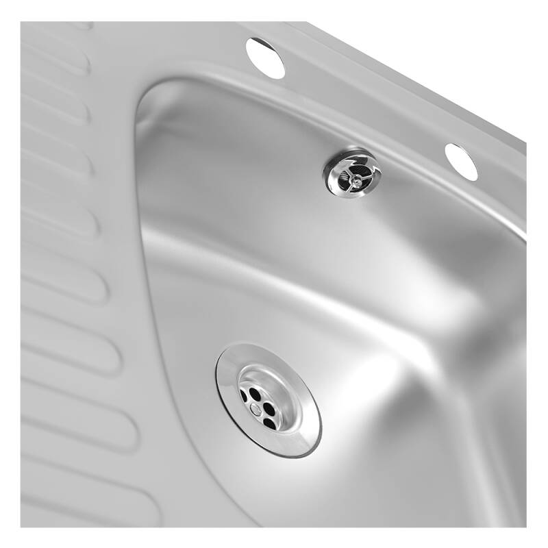 935x485 Tudor LHD S/Steel Sink and Lever Pillar Tap Pack additional image 4