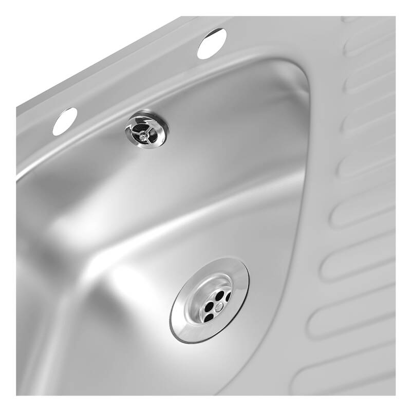935x485 Tudor RHD S/Steel Sink and Lever Pillar Tap Pack additional image 6