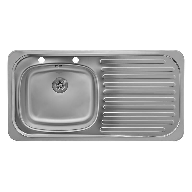 935x485 Tudor RHD S/Steel Sink and Pillar Tap Pack additional image 1