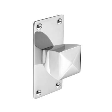 94mm Paisley Square Chrome Knob Handle