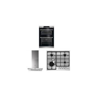 AEG Double Oven, Cooker Hood and Gas Hob Package