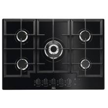 AEG H40xW740xD510 5 Burner Gas on Glass Hob