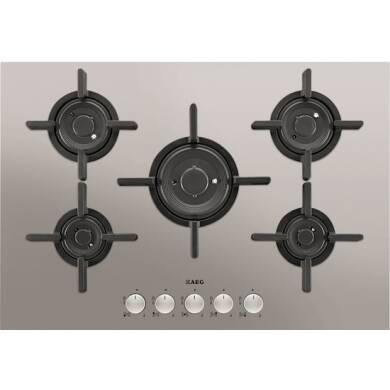 AEG H45xW740xD510 Gas 5 Burner Hob - Stainless Steel
