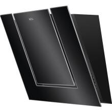 AEG H477xW550xD335 Angled Chimney Cooker Hood - Black