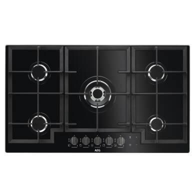 AEG H53xW880xD510 5 Burner Gas on Glass Hob - Black