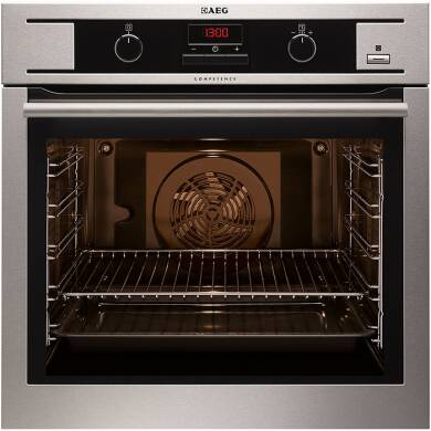 AEG H594xW594xD568 Single Multi-Function Oven - Stainless Steel