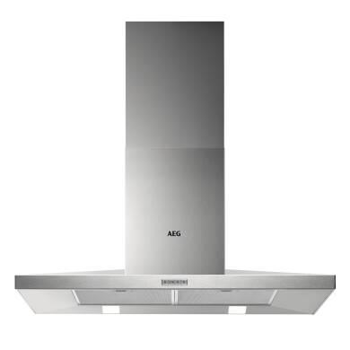 AEG H665xW898xD500 Chimney Cooker Hood - Stainless Steel