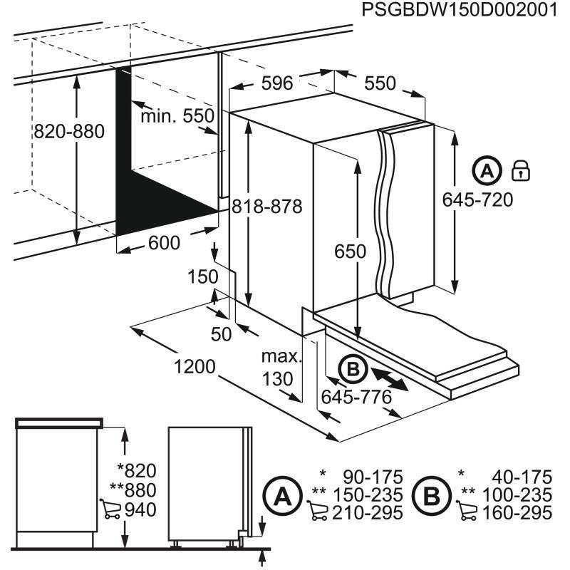 AEG H818xW596xD550 Fully Integrated Dishwasher additional image 3