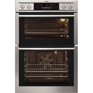 AEG H888xW594xD548 Built In Double Electric Oven - Stainless Steel
