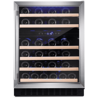 Amica H825xW595xD565 Under Counter Wine Cooler - Stainless Steel