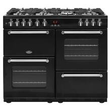 Belling Lincoln Classic 100cm Dual Fuel Range Cooker - Black