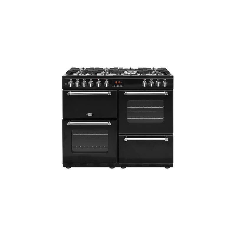Belling Lincoln Classic 100cm Dual Fuel Range Cooker - Black primary image