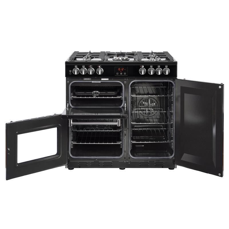 Belling Lincoln Classic 90cm Dual Fuel Range Cooker - Black additional image 1