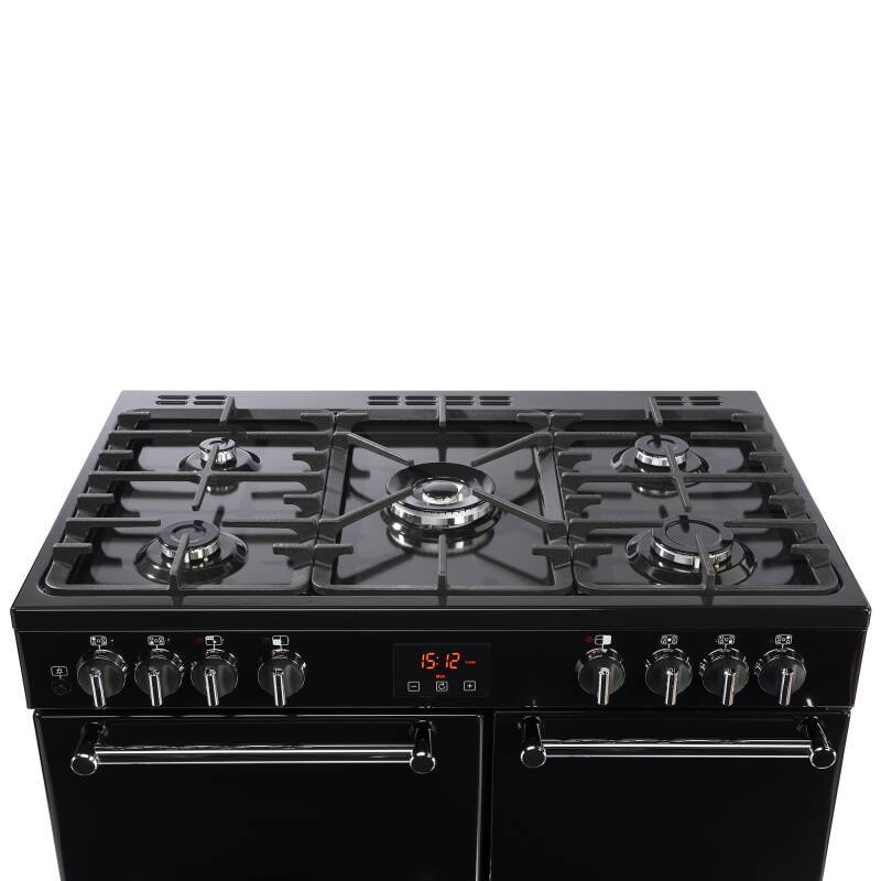 Belling Lincoln Classic 90cm Dual Fuel Range Cooker - Black additional image 3