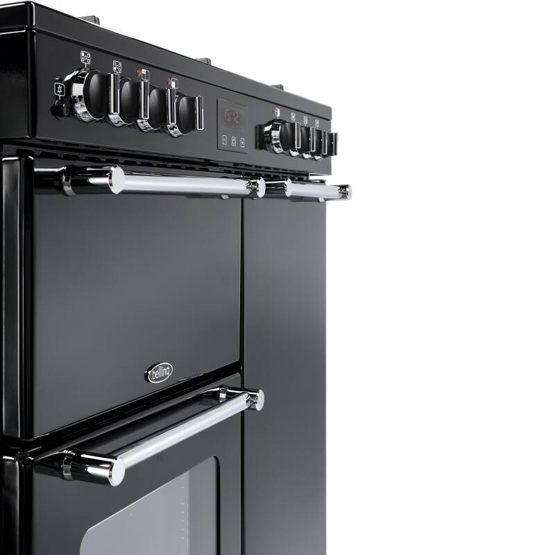Belling Lincoln Classic 90cm Dual Fuel Range Cooker - Black additional image 4