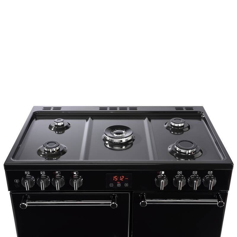 Belling Lincoln Classic 90cm Dual Fuel Range Cooker - Black additional image 5
