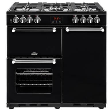 Belling Lincoln Classic 90cm Dual Fuel Range Cooker - Black