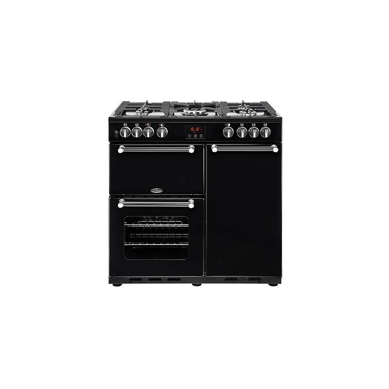 Belling Lincoln Classic 90cm Dual Fuel Range Cooker - Black primary image