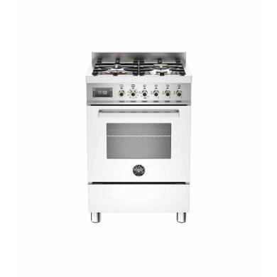 Bertazzoni Exclusive Professional 60cm Dual Fuel 4 Burner Range Cooker - Gloss White (Bianco)