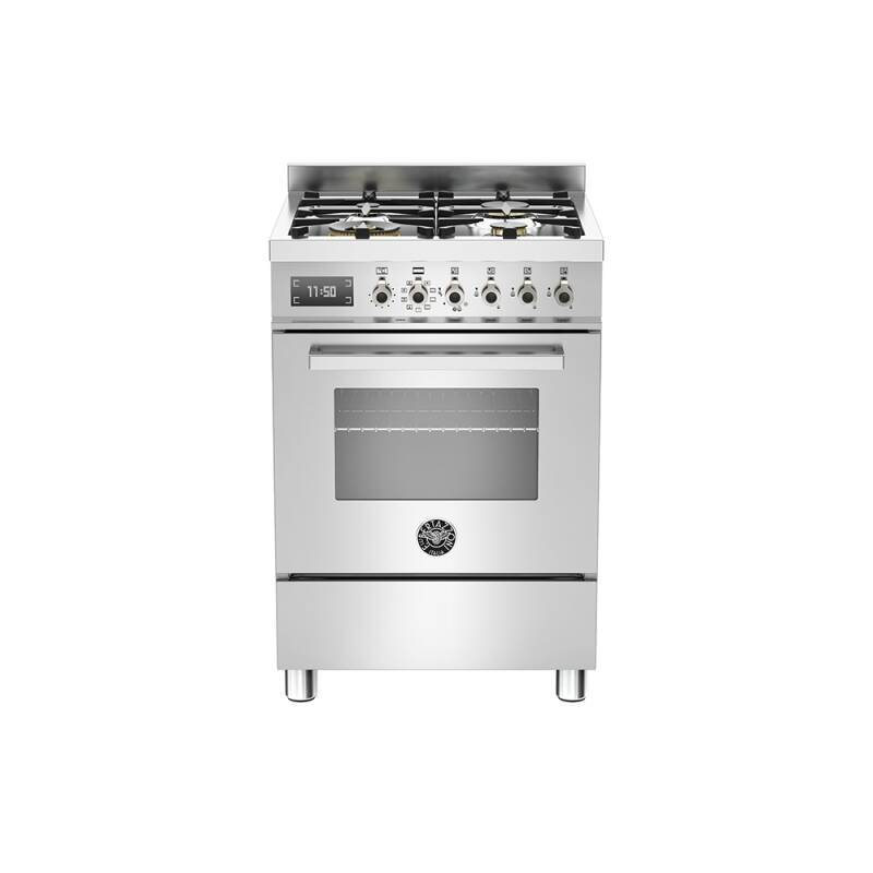 Bertazzoni Exclusive Professional 60cm Dual Fuel 4 Burner Range Cooker - Stainless Steel primary image