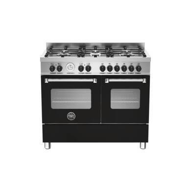Bertazzoni Master 100cm Dual Fuel 6 Burner Range Cooker (2 Ovens) - Matt Black (Nero)
