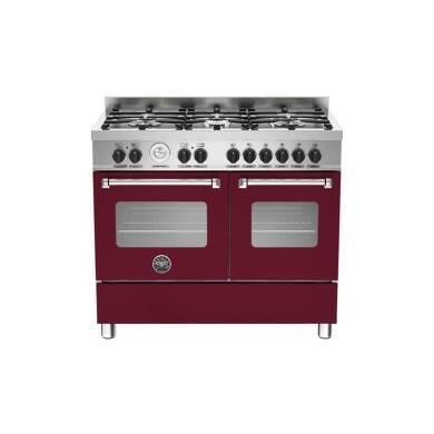 Bertazzoni Master 100cm Dual Fuel 6 Burner Range Cooker (2 Ovens) - Matt Burgundy (Vino)