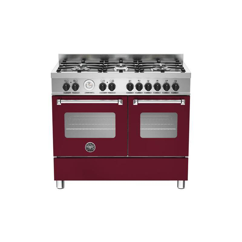 Bertazzoni Master 100cm Dual Fuel 6 Burner Range Cooker (2 Ovens) - Matt Burgundy (Vino) primary image