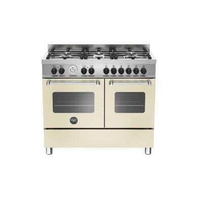 Bertazzoni Master 100cm Dual Fuel 6 Burner Range Cooker (2 Ovens) - Matt Cream (Crema)