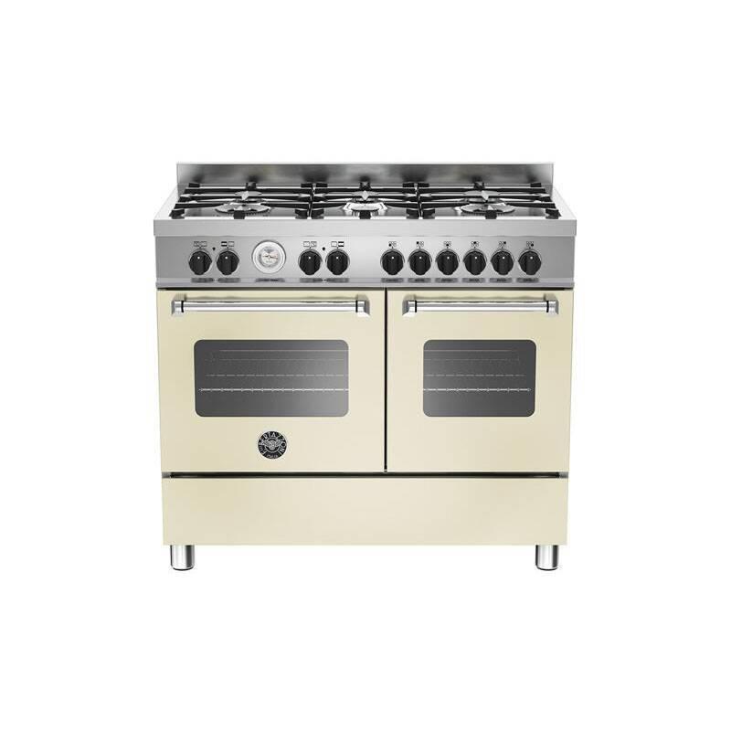 Bertazzoni Master 100cm Dual Fuel 6 Burner Range Cooker (2 Ovens) - Matt Cream (Crema) primary image