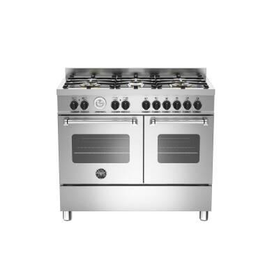 Bertazzoni Master 100cm Dual Fuel 6 Burner Range Cooker (2 Ovens) - Stainless Steel