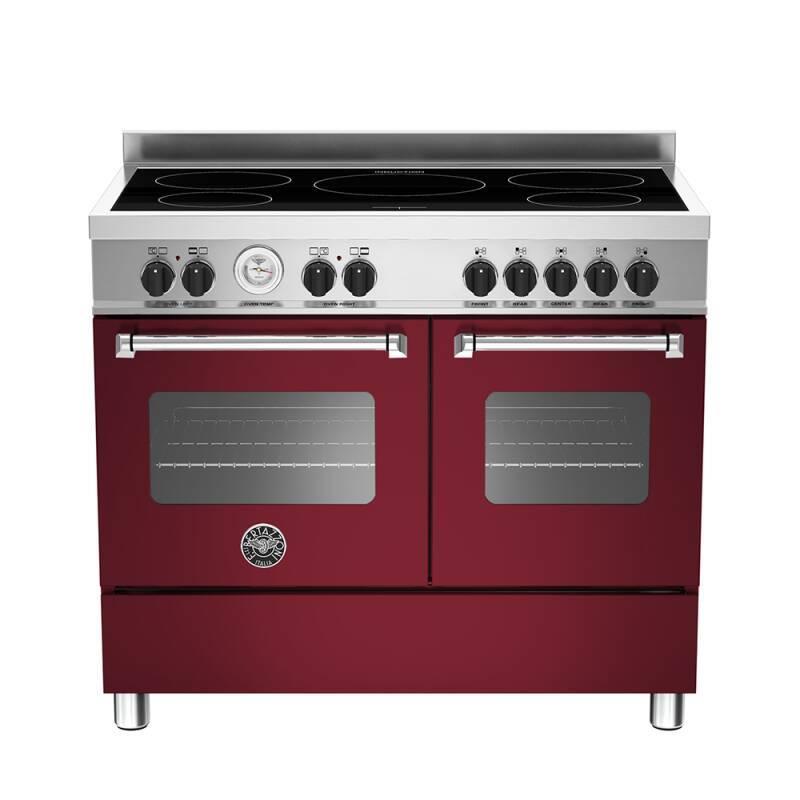 Bertazzoni Master 100cm Induction 5 Zone Range Cooker (2 Ovens) - Matt Burgundy (Vino) primary image