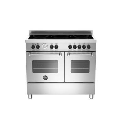 Bertazzoni Master 100cm Induction 5 Zone Range Cooker (2 Ovens) - Stainless Steel