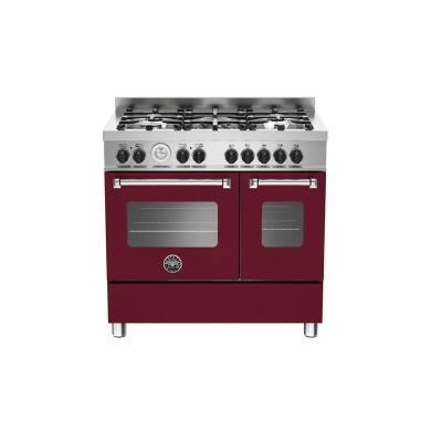 Bertazzoni Master 90cm Dual Fuel 5 Burner Range Cooker (2 Ovens) - Matt Burgundy (Vino)