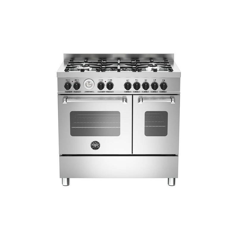 Bertazzoni Master 90cm Dual Fuel 5 Burner Range Cooker (2 Ovens) - Stainless Steel primary image
