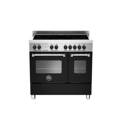 Bertazzoni Master 90cm Induction 5 Zone Range Cooker (2 Ovens) - Matt Black (Nero)