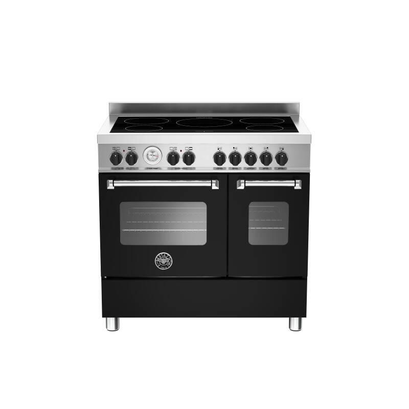 Bertazzoni Master 90cm Induction 5 Zone Range Cooker (2 Ovens) - Matt Black (Nero) primary image