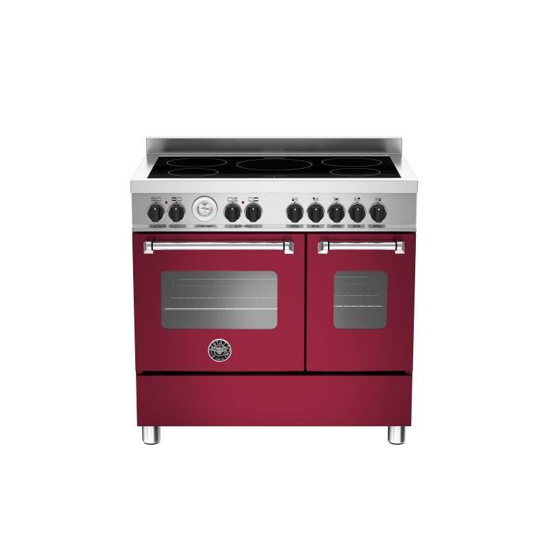 Bertazzoni Master 90cm Induction 5 Zone Range Cooker (2 Ovens) - Matt Burgundy (Vino) primary image